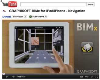 Graphisoft BIMx video on YouTube