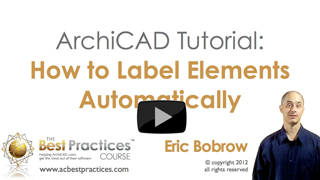 ArchiCAD Tutorial | How to Label Elements Automatically