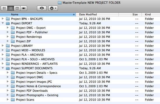 MasterTemplate Folder Structure