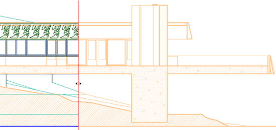 Editing an elevation in ArchiCAD