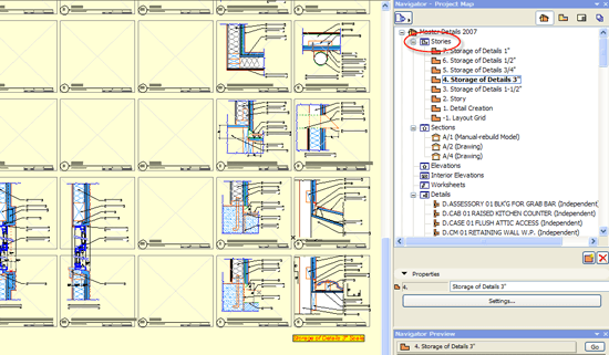 ArchiCAD Screen Shot - View Map