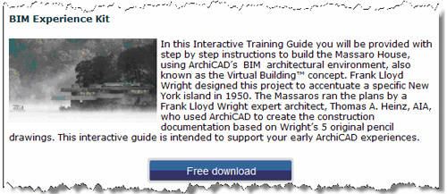 ArchiCAD Tutorial, BIM Experience Kit