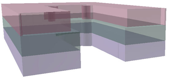ArchiCAD, transparent view of zones in 3D.