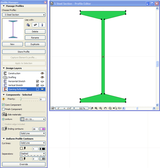 ArchiCAD, S Steel Selection