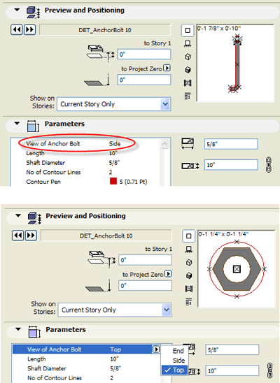 ArchiCAD sizing options