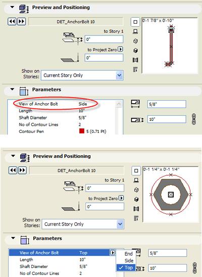 ArchiCAD sizing options