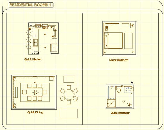 Typical Room Templates in ArchiCAD