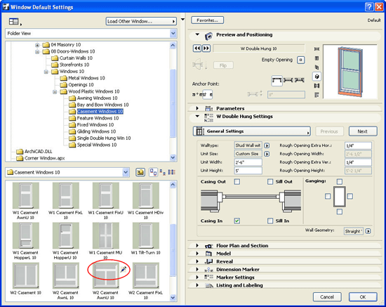 ArchiCAD Tutorial set up as many types of Favorites