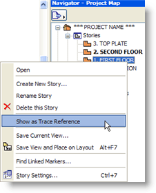 ArchiCAD Show as Trace Reference