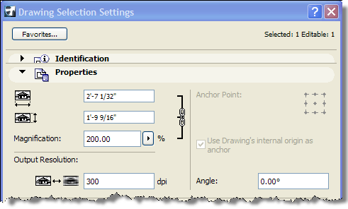 ArchiCAD Drawing Saving Selection