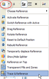 ArchiCAD Trace & Reference popup menu