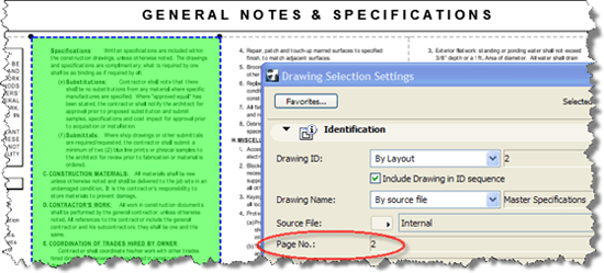 Selecting page number in ArchiCAD