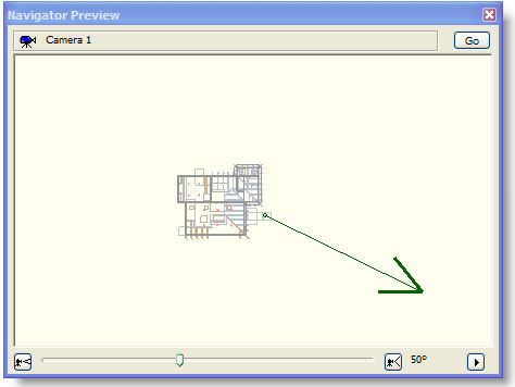 ArchiCAD Navigator Preview with camera viewpoint