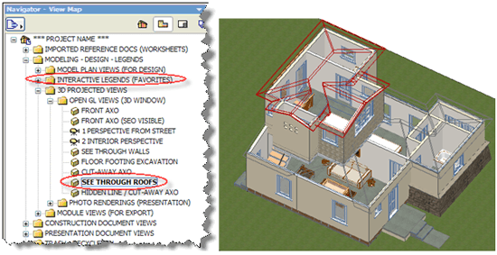 ArchiCAD Tutorials, Interactive Legends of Visual Favorites