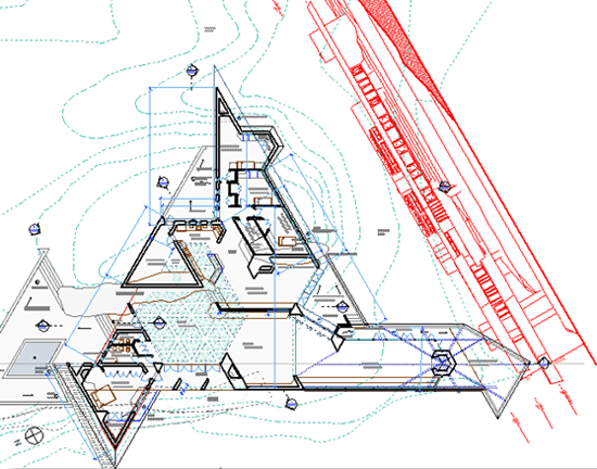 ArchiCAD Tutorial structural DWG is used as Trace Reference
