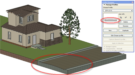 ArchiCAD Tutorial, a roadbed can curve smoothly with any desired radius