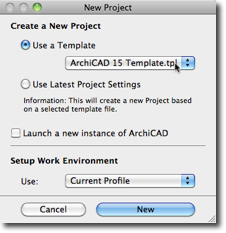 Create a New Project using a Template