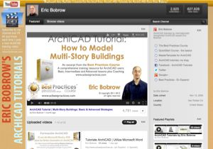 Eric Bobrow ArchiCAD Tutorials YouTube channel