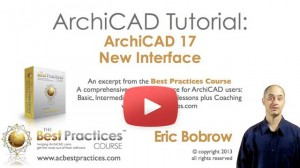 ArchiCAD tutorial video - ArchiCAD 17 New Interface