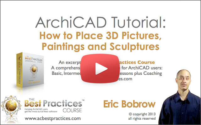 ArchiCAD Tutorial | How to Place 3D Pictures, Paintings and Sculptures