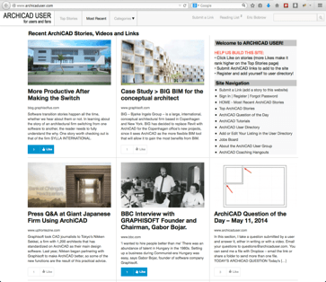 ARCHICAD USER website home page