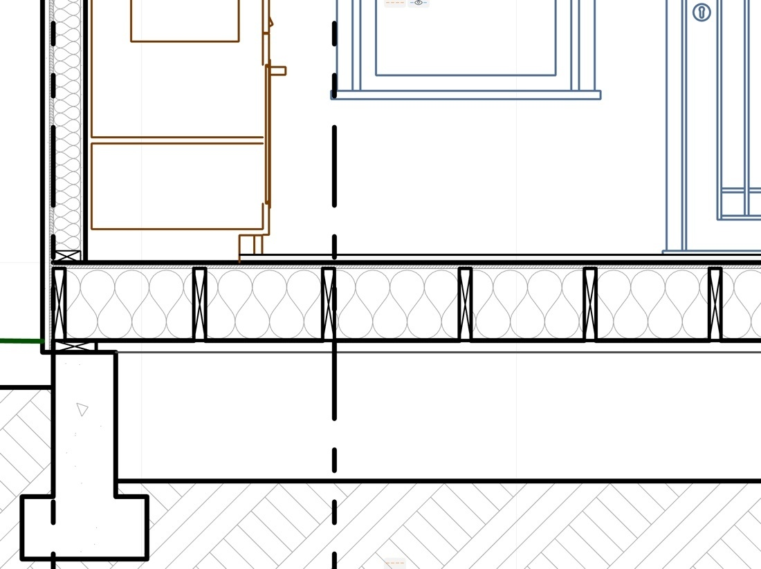 MasterTemplate section drawing screenshot with revised framing profiles